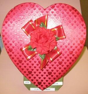 valentine heart box of chocolates