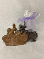 Premium Solid Chocolate Motorcycle Bunny