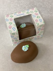 Coconut filled premium chocolate covered easter egg