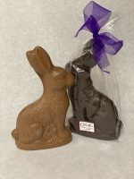Solid chocolate sitting rabbit
