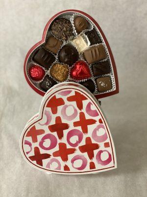 XOXO box of premium chocolate candies