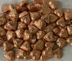 foil wrapped dark chocolate hearts