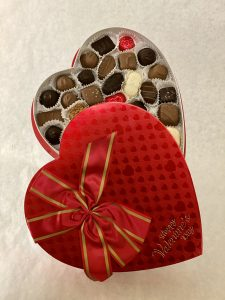 Valentines Red Heart Box of premium chocolates
